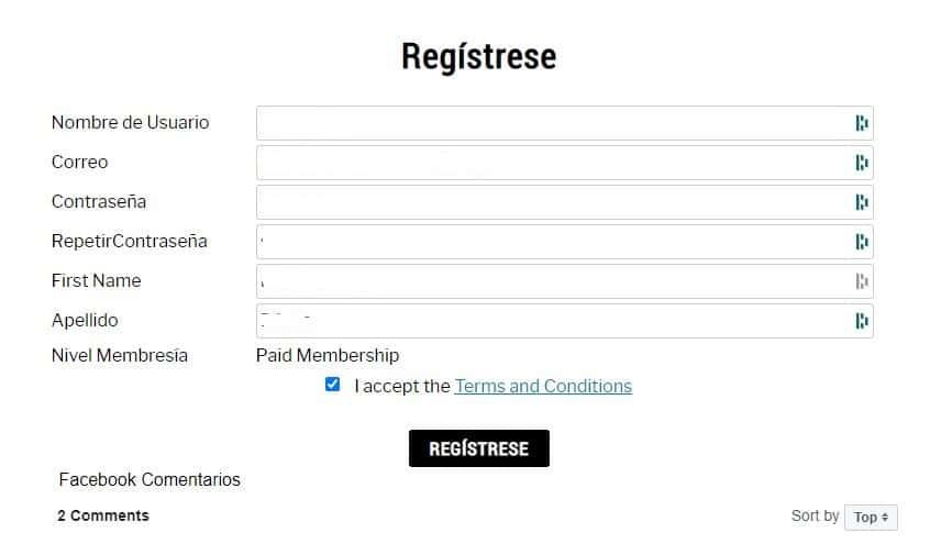 registrese membresia eft